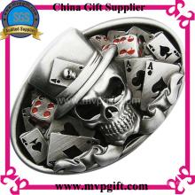 Hebilla de cinturón de metal con grabado de logotipo 3D