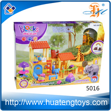 New ABS plastic animal and house building blocks toys for kids