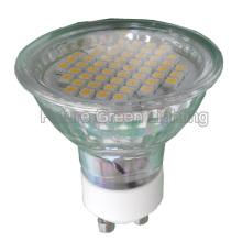 Светодиодная пятновыводимая лампа GU10 / MR16 / E27 / E14 54SMD 3W с крышкой