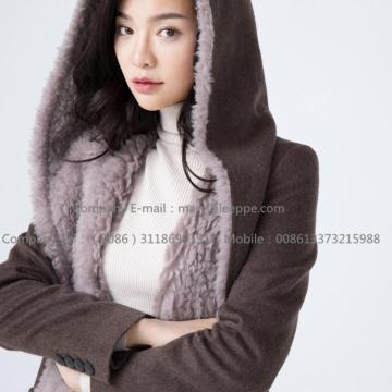 Lady Water Wavy Cashmere Overcoat
