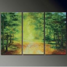 Природа Scenely Дерево Картина маслом --- Дерево в лесу