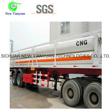 CNG Media 8 Tubes Skid 40ft Container Полуприцеп