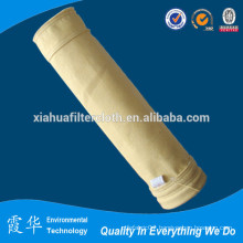 High filtration pulse jet filter bag for dust filters