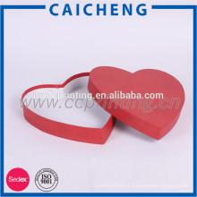 coffrets d'emballage-cadeau de papier de chocolat en forme de coeur coffret d'emballage de bonbons de luxe