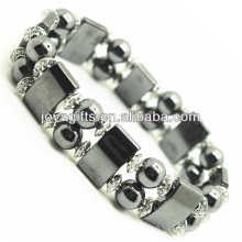 Bracelet de l'amplitude de l'hématite magnétique avec des billes rondes en alliage et en hematite magnétique 8MM