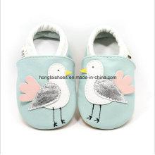 Couro sapatos de bebê Toddler Indoor 01