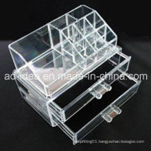 Multi Layers Acrylic Exhibition Stand for Store Cosmetic Advertising