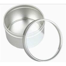 Tinplate Metal Round Tin Box Candle Tin