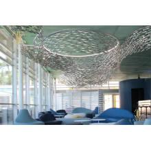 Lustre led en verre décoratif en forme de poisson d'aquarium de sushi