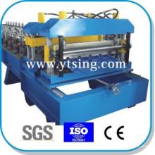 Passado CE e ISO YTSING-YD-6887 Telha de Controle Automático telhado Roll formando máquina