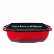 Lasagne-Topf aus Gusseisen mit Grillabdeckung