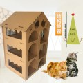 cardboard cat castle house