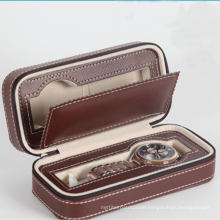 SHBC Factory Customized fashion luxury leather watch roll boxes & cases