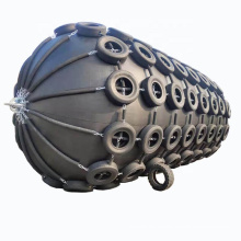 Defensa de goma neumática de yokohama de la nave del buque marino con el neumático y la cadena
