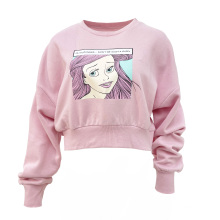 Factory Direct Sales Long-Sleeve Tops Polyester Cotton Fashion Women'S Round-Neck T-Shirts Sweater Shirt