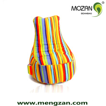Silla de tela de algodón suave sofá sofá bolsas de frijoles a granel