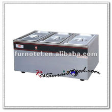 K096 Electric 3 Pans Stainless Steel Bain Marie Food Warmer for Catering