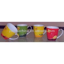Lipton café cuadrado real europeo occidental estilo hueso China cerámica placa de plato ovalada