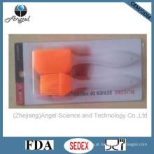 Silicone Baking Tool 2PCS Mini espátula e escova com leitoso PP Handle Sb09b