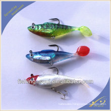 SLL007 8cm 14.5g Soft shad fishing lure with jig lead soft bait
