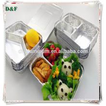 3-fach Aluminiumfolie Mikrowelle Safe Lebensmittelbehälter