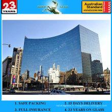 Commercial et résidentiel 5 + 9A + 5mm Rideau Double vitrage en verre de mur avec AS / NZS2208: 1996