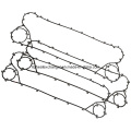 Plate Heat Exchanger Gasket (can replace Alfalaval M10M)