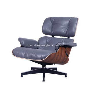 Living Room Timeless Eames Lounge Chair in Leather