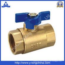Válvula de bola de latón forjado con mango de zinc (YD-1016)
