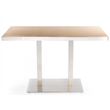 Modern Square Wooden Restaurant Dinning Tables HPL Top