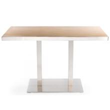Современные квадратные деревянные обеденные столы для ресторана HPL Top