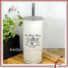 Белая глазурь цветная наклейка керамическая черная ручка для туалетной щетки