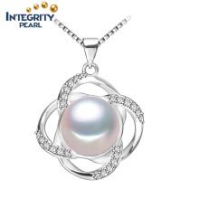 Pendentif perle d'eau douce AAA Pendentif Pendentif perlé blanc semi-rond de 9-10mm