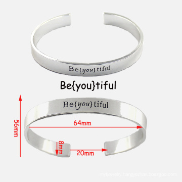High Quality Custom Stainless Steel Bangle Engraved Bracelets