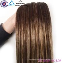 Venta al por mayor Alibaba Remy Virgen pinza de pelo en virgen indio extensiones de cabello humano al por mayor