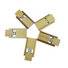Новый стиль поворотный деревянный USB-накопитель оптом