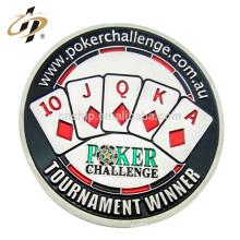 Nouveaux produits personnalisés en métal meurt en argent émail poker casino jeux d'argent jeton pièce de monnaie