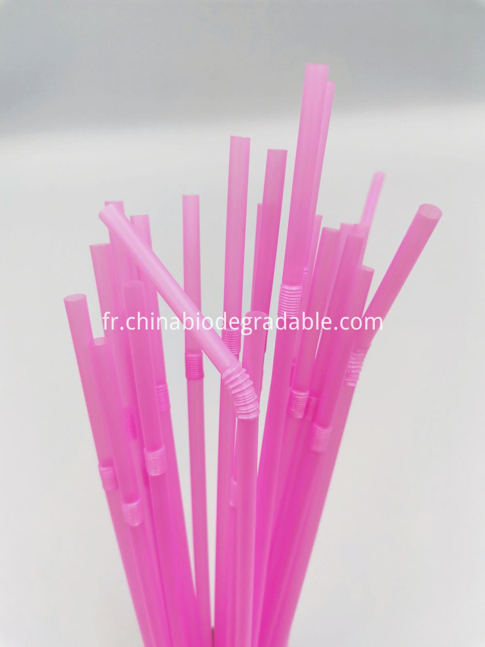 Compostable Plastic Flexible Drinking Straws
