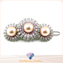Best Products Elegant Design for Woman Fashion Jewelry Silver Jewelry Pearl Hairpin (H0006)