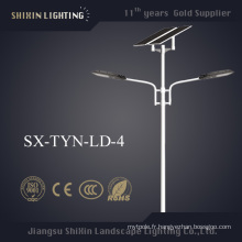 Réverbère solaire à double bras LED avec garantie de 5 ans