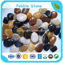 Pedra de cascalho de pedra polida decorativa de alta qualidade