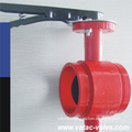 1.6 MPa/Pn16 Dn50~Dn1000 Clamped X Grooved Cast Grey Iron Gg25 Butterfly Valve