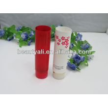 Colored cosmetic tube for sunblock lotion