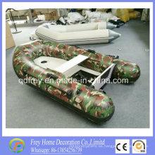 Barco de pesca inflable del camuflaje del Ce de la venta caliente de los 2.7m con el toldo