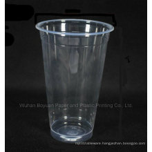 Disposable High Clear Plastic Cup of 90mm Upper Diameter