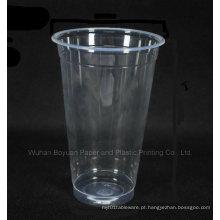 Copo plástico claro alto descartável do diâmetro superior de 90mm
