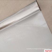 Paño de cristal del papel de aluminio, laminación de la fibra de vidrio de la hoja de aluminio, material reflexivo y de plata del material de cubierta