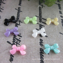 DIY stock plastic resin beads bowknot beads