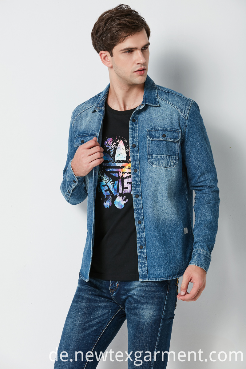 MENS FASHION DENIM SHIRT
