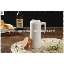 Керамический резервуар для питьевой воды высокого качества с бамбуковой крышкой